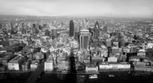 London Skyline Bw